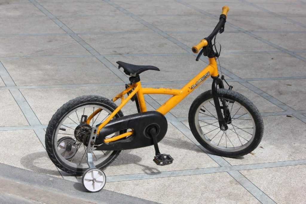 some people use stabilizers or training wheels to teach their child to ride a bike.
